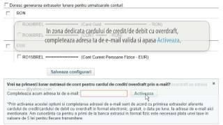 Demo extras lunar prin email card de credit / overdraft - Libra Internet Banking