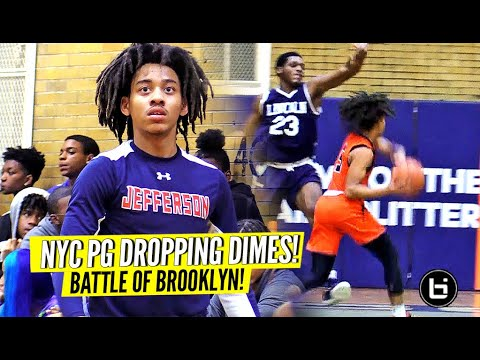 Battle Of Brooklyn! Jaquan Carlos Dropping Dimes! Jefferson vs Lincoln Full Highlights!