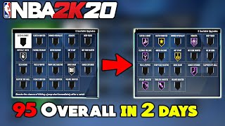 NBA 2K20 HOW TO GET 95 OVERALL IN 2 DAYS & UNLIMITED BADGE POINTS GLITCH FASTEST WAY