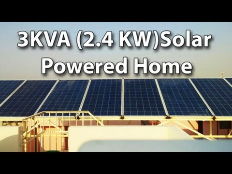Home Solar Power - 3KVA Solar Powered System Successfully Installed and running well