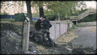 Завели старый квадроцикл... Чуть не убился!!!