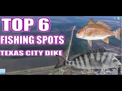 TOP 6 Fishing Spots In Texas City Dike