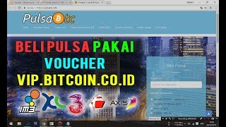 Cara Beli Pulsa di PulsaBTC.info Dengan Voucher VIP Bitcoin Indonesia