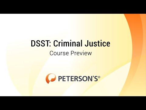 Peterson's DSST Criminal Justice - Course Preview