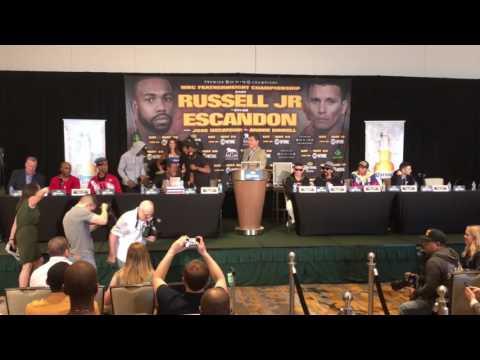 Gary Russell Jr. vs. Oscar Escandon Full Press Conference