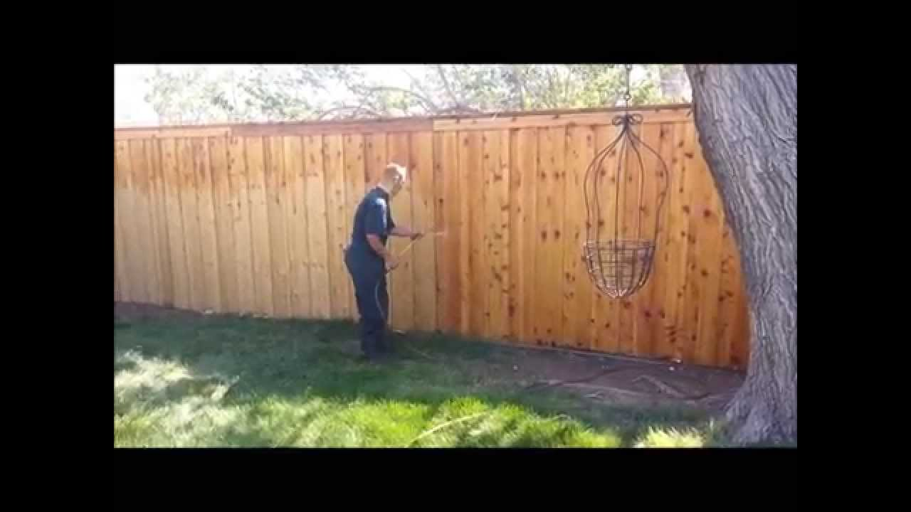 Jim S Fence Co Clear Glow Stain Youtube