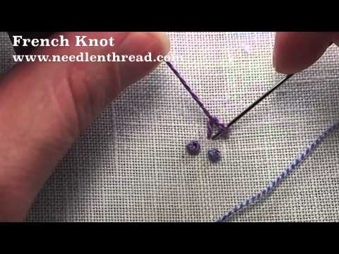 How to sew a french knot embroidery