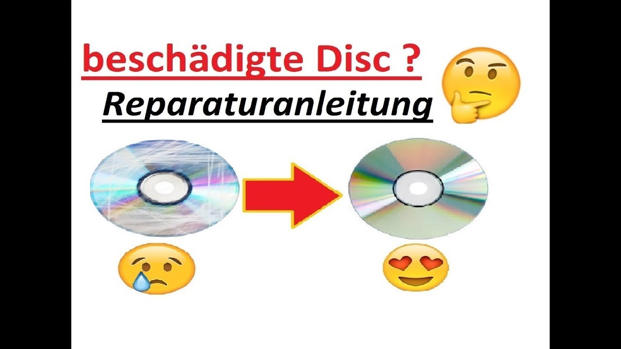 defekte zerkratzte cd dvd reparieren tutorial youtube. Black Bedroom Furniture Sets. Home Design Ideas