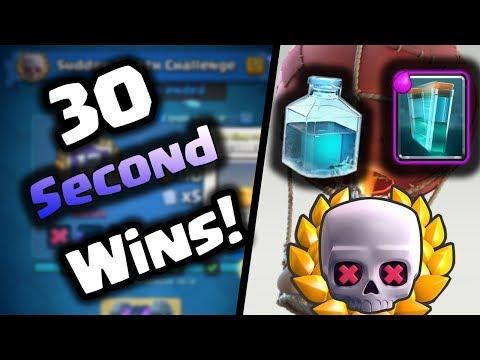 Clash Royale | 30 Second Wins! | Sudden Death Best Deck