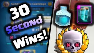 Clash Royale | 30 Second Wins! | Sudden Death Best Deck