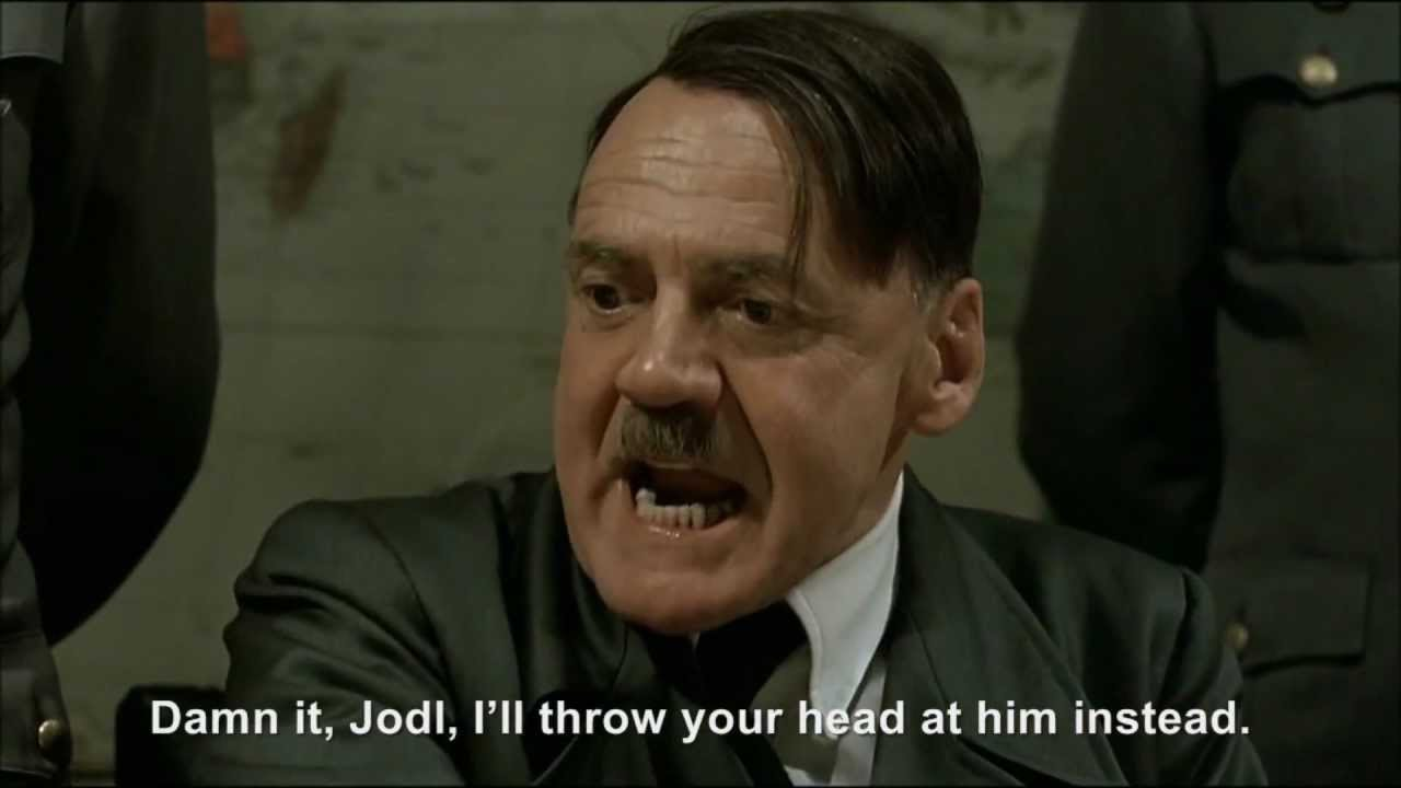 Hitler throws a book at President Obama
