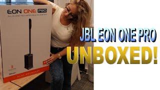 World Biggest Mobile Speaker JBL EON ONE PRO UNBOXED! (4K)