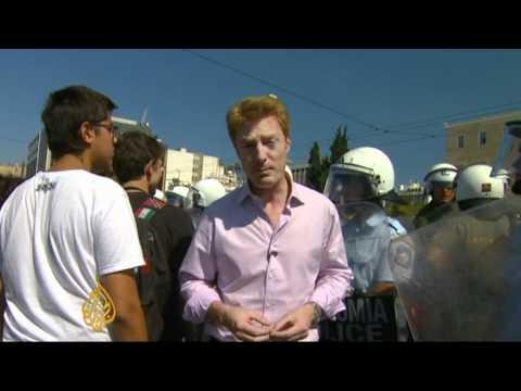 Greek plan to cut budget angers public