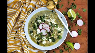 Soup Recipe: Chicken Posole Verde by Everyday Gourmet with Blakely