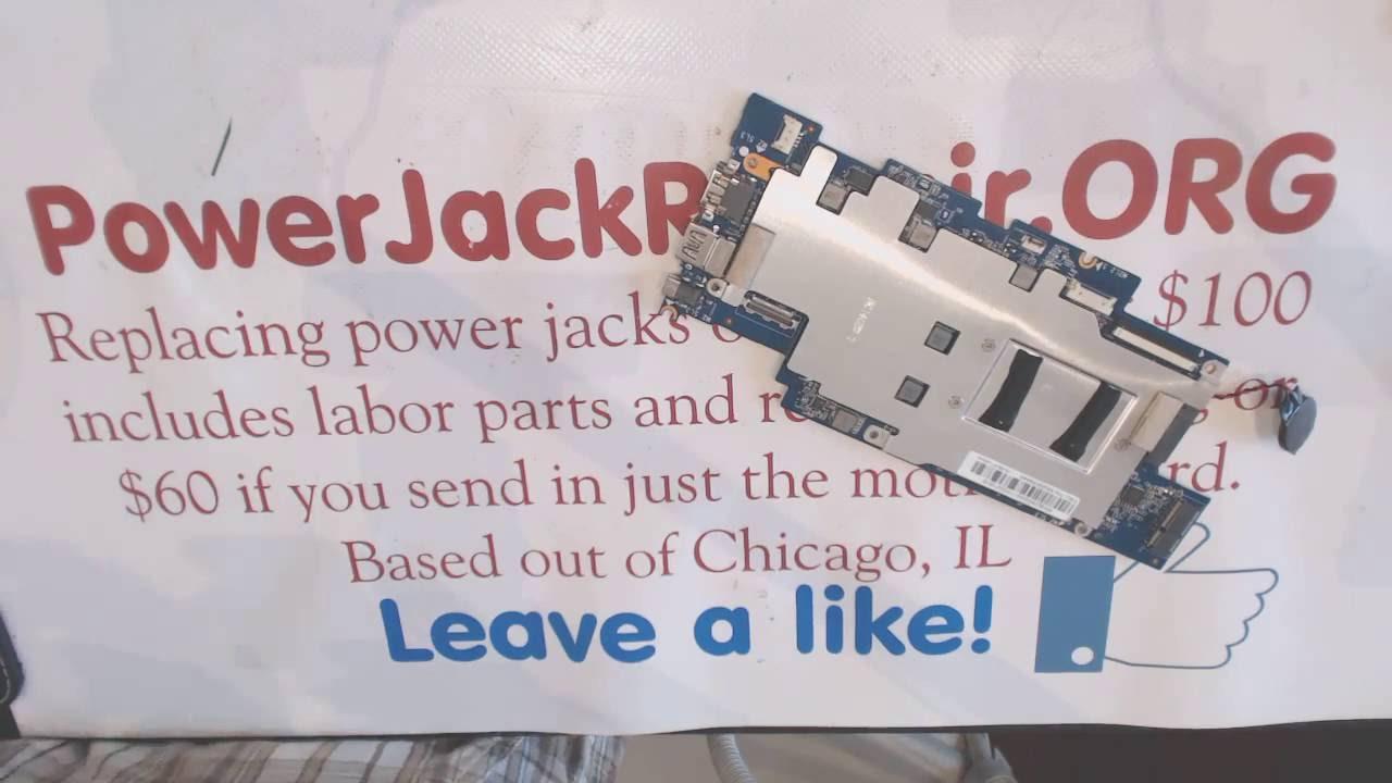 Lenovo ideapad 100s 100s-141br Laptop repair fix power jack problems broken  dc socket input port