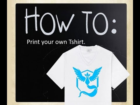 How to | Print your own tshirt - YouTube
