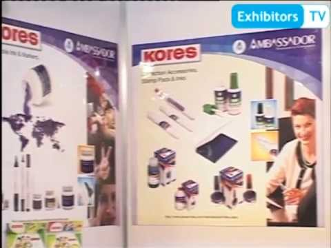 Kores (India) Ltd.-India's leading Stationery Products manufacturer (Exhibitors TV@ IndiaExpo 2012)
