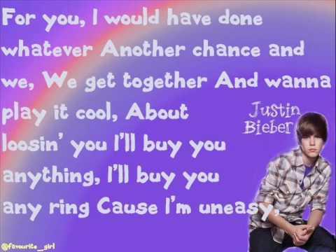 Justin Bieber- Baby- Lyrics - YouTube