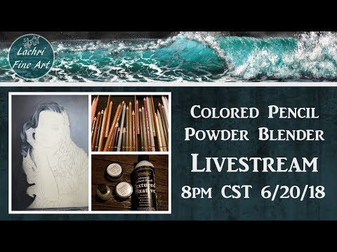 Drawing Hair in  Colored Pencil Livestream...