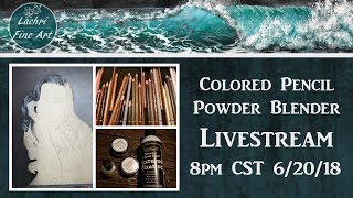 Drawing Hair in  Colored Pencil Livestream & Art Chat - Lachri