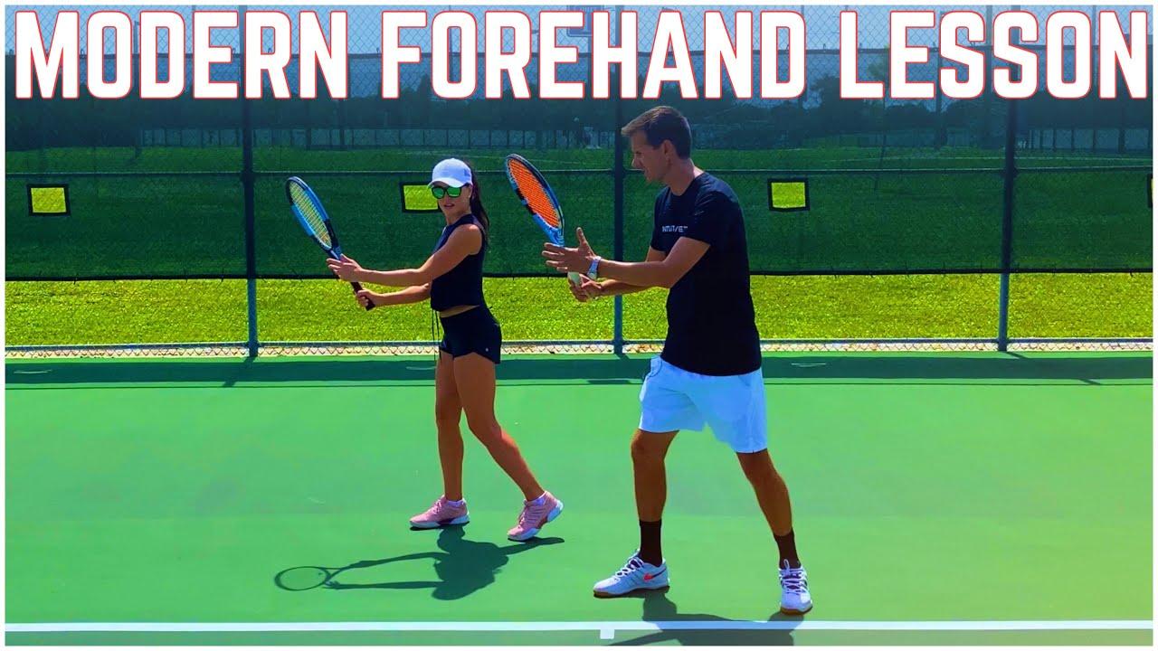 Modern Forehand Tennis Lesson