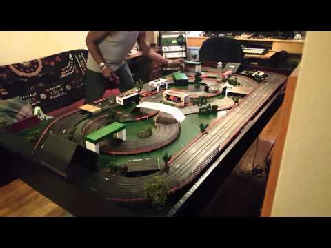 Afx Slot Car 4 Lane layout