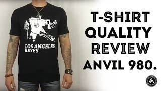 High Quality Blank T Shirt Review For Printing - Anvil 980
