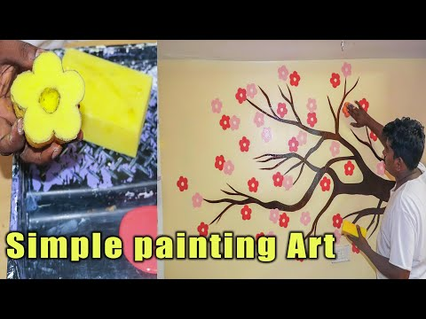 Easy Diy Homemade Wall Art Painting Designs Ideas For Bedroom Youtube