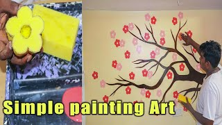 Painting Wall Art Ideas Easy D I Y Flowers Youtube
