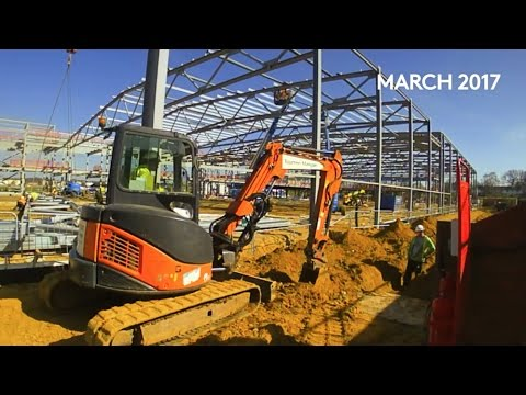 Construction time lapse Feb - March 2017 Farnborough International Exhibition and Conference Centre