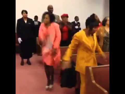 Lady Killing the Tambourine in Church