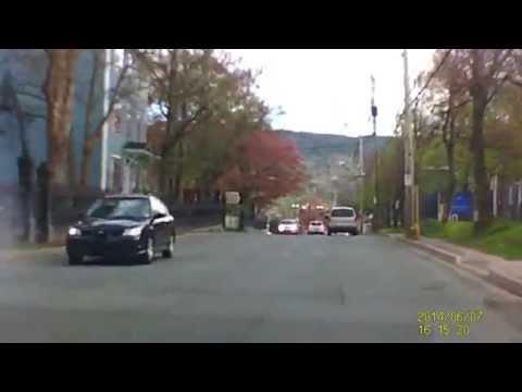 Driving through downtown St. John's, Newfoundland