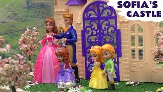 Play Doh Princess Sofia The First Hello Kitty Train Talking Castle Playset Disney Princess Play-doh