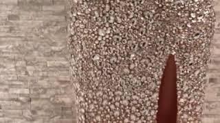 Платье в камнях от Swarovsky Jovani c разрезом