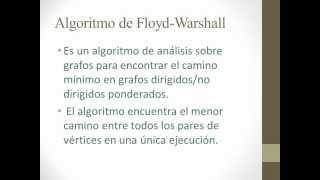 Floyd Warshall Ej1