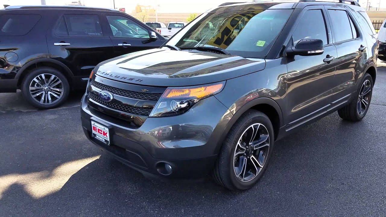 your 2015 magnetic gray explorer sport outside view youtube