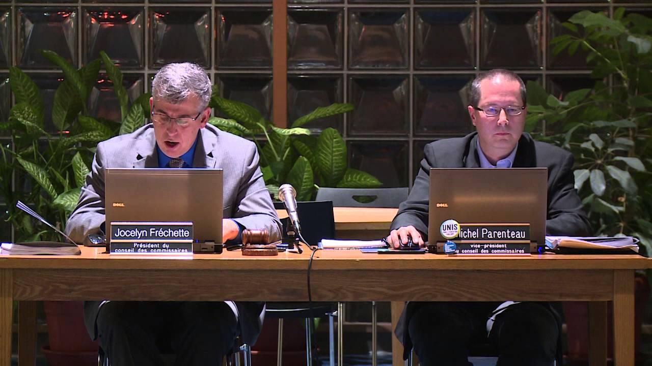 Réunion des commissaires de la C.S.C.V. - Décembre 2015
