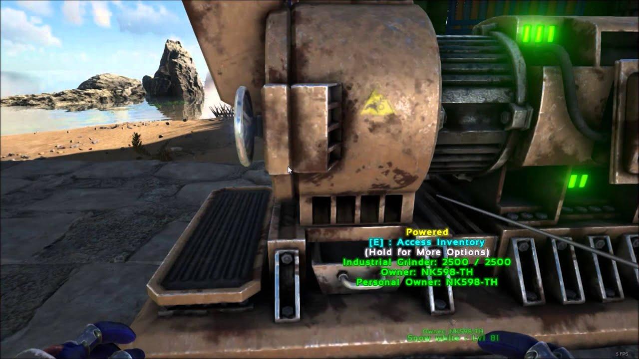 Industrial Grinder :ARK Survival Evolved #เครื่องบดอุตสาหกรรม - YouTube