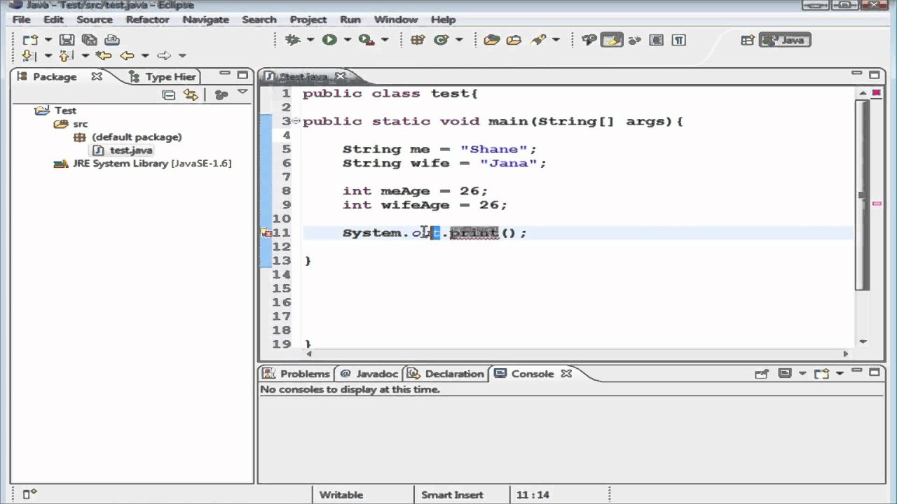 Java generics tutorial for beginners image collections any java queues tutorial gallery any tutorial examples beginner java tutorial 4 declaring initializing variables beginner java baditri Images