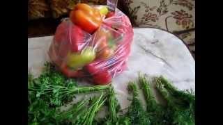 Заморозка зелени и перца ( консервация)