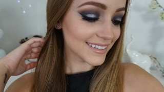 Navy Blue & Silver Smokey Eye | Makeup Tutorial
