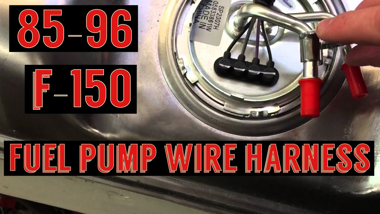 F150 fuel pump wiring harness install  Spectra fuel pump  YouTube