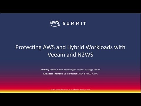 How Veeam & N2WS are Protecting Native Workloads within AWS