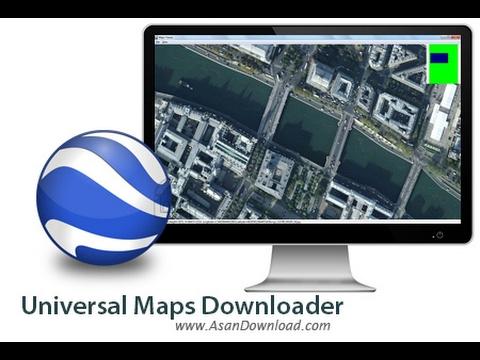 تحميل صور الأقمار الإصطناعية عن طريق universal maps downloader و دمجها أوتوماتيكيا