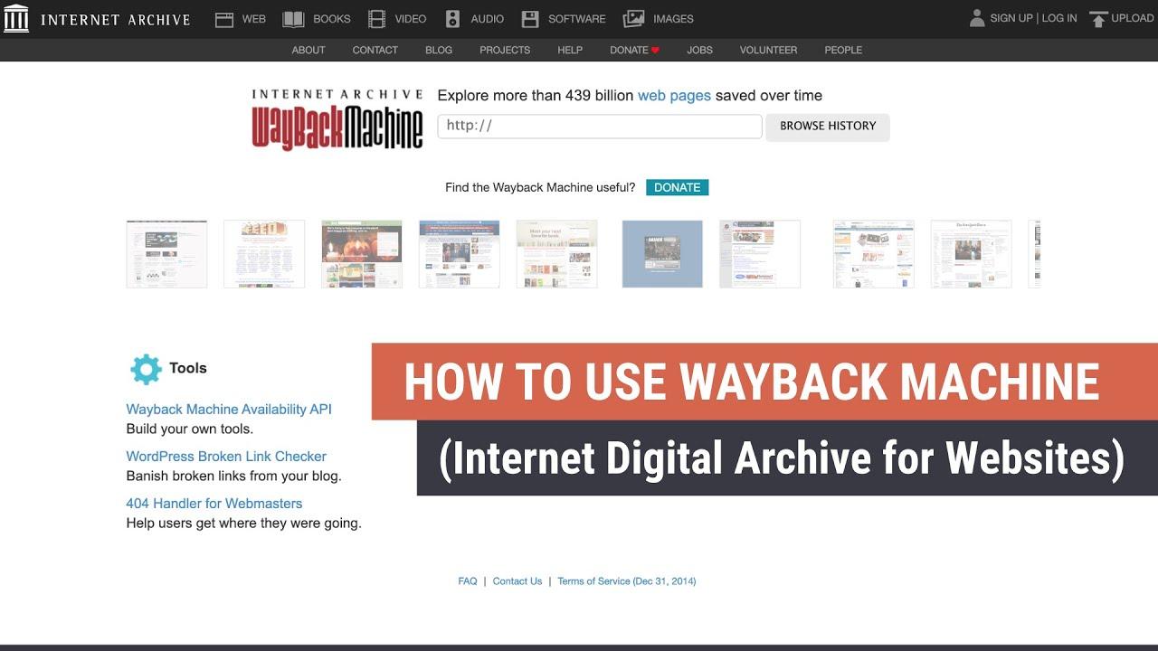 How To Use Wayback Machine Website History Youtube