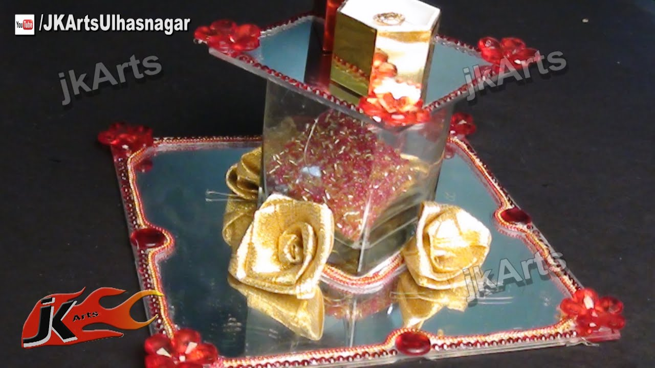 How To Make Engagement Wedding Ring Platter Jk Arts 449 Youtube . Plate Decoration ... & Aarti Decoration Diy Crafts That I Love Pinterest Decoration Plate ...