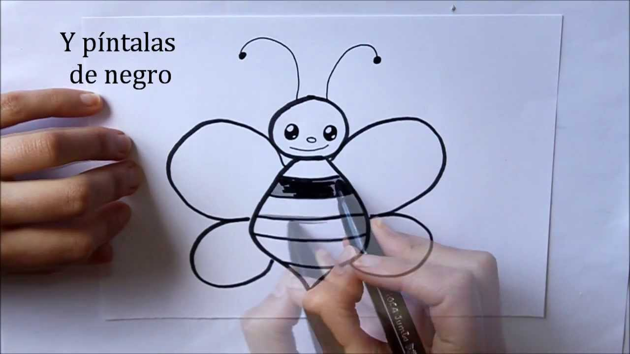 Cómo dibujar una Abeja Dibuja Conmigo Dibujos de Animales - YouTube