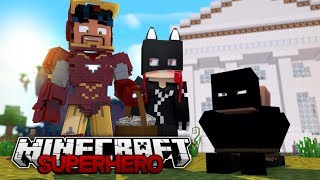 Iron man and Cat woman Stop a Bank Robbery!! (Minecraft Roleplay)