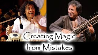 Stories of Zakir Hussain and Shahid Parvez Creating Magic from Mistakes - Indian Classical Music