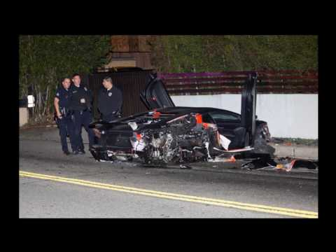 [PICS] Chris Brown Car Accident: His $400K Lamborghini Destroyed In Wreck
